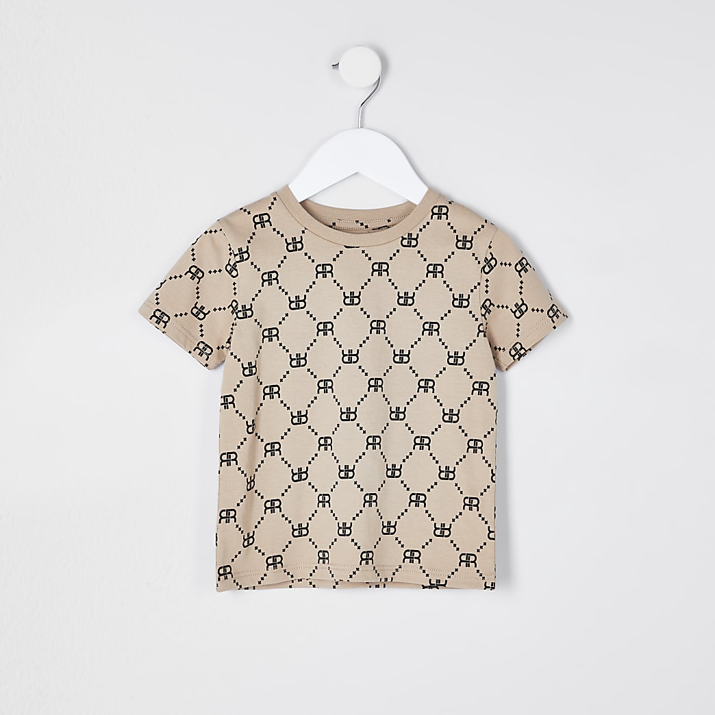 Mini boys stone RIR printed t-shirt