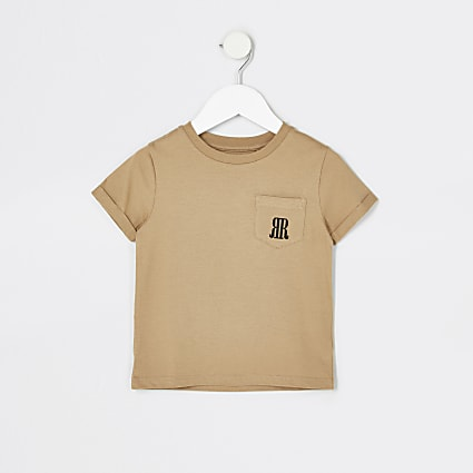 Mini boys stone RR pocket t-shirt