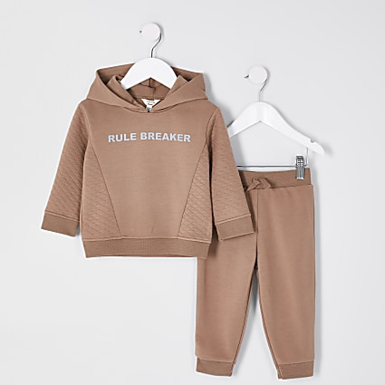 Mini boys stone 'Rule breaker' outfit