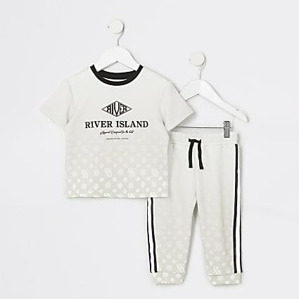 Mini boys stone RVR monogram fade outfit