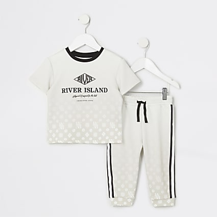Mini boys stone RVR monogram fade set