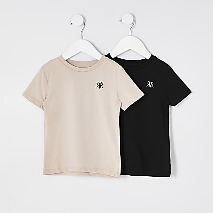 Mini boys stone RVR t-shirt 2 pack