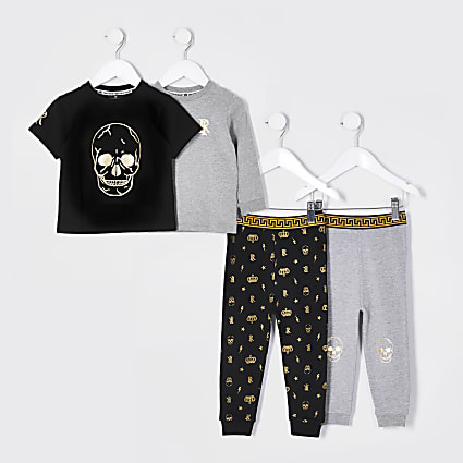 Mini boys stone skull snuggle pyjamas 2 pack