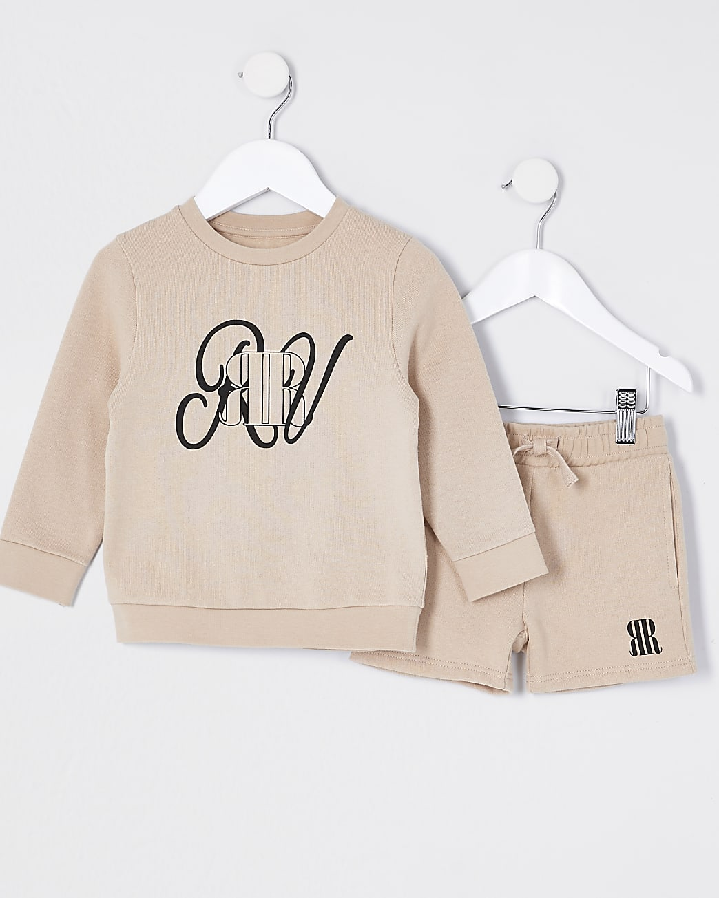 Mini boys stone sweatshirt outfit
