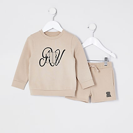 Mini boys stone sweatshirt outfit