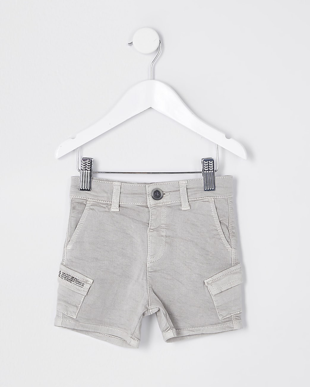Mini boys stone wash cargo shorts