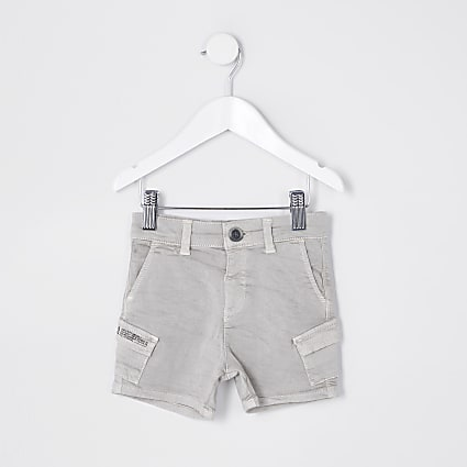 Mini boys stone wash cargo shorts