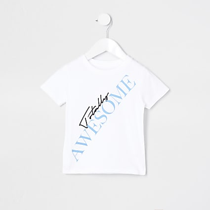 Mini boys 'Totally Awesome' t-shirt