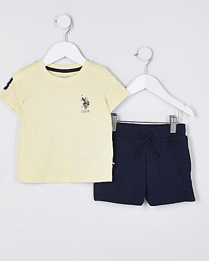 Mini boys USPA polo shirt outfit