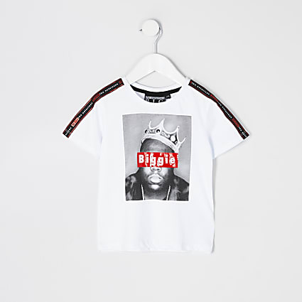 Mini boys white Biggie Smalls t-shirt