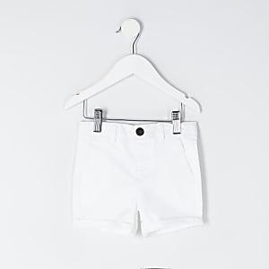 mini – Weiße Chinoshorts für Jungen
