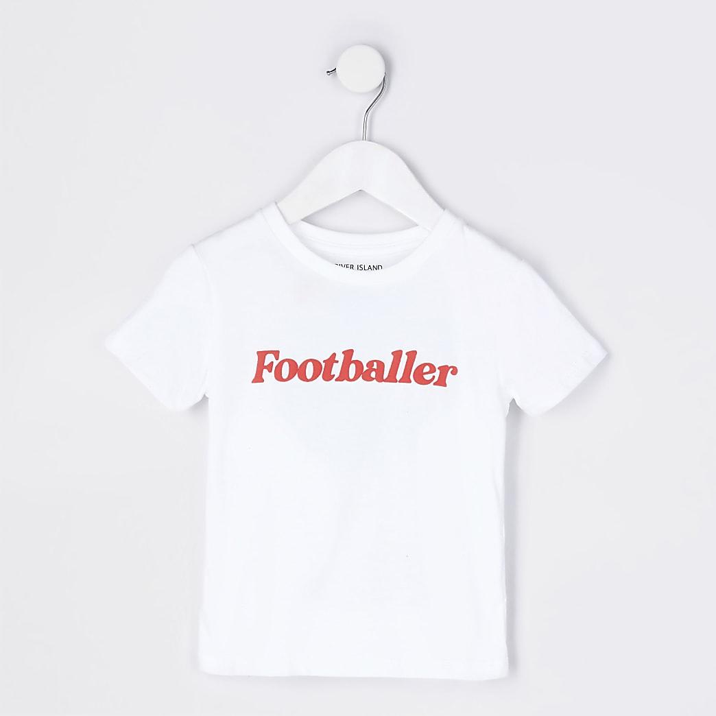 Mini boys white 'Footballer' t-shirt