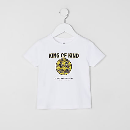 Mini boys white 'King of Kind' t-shirt