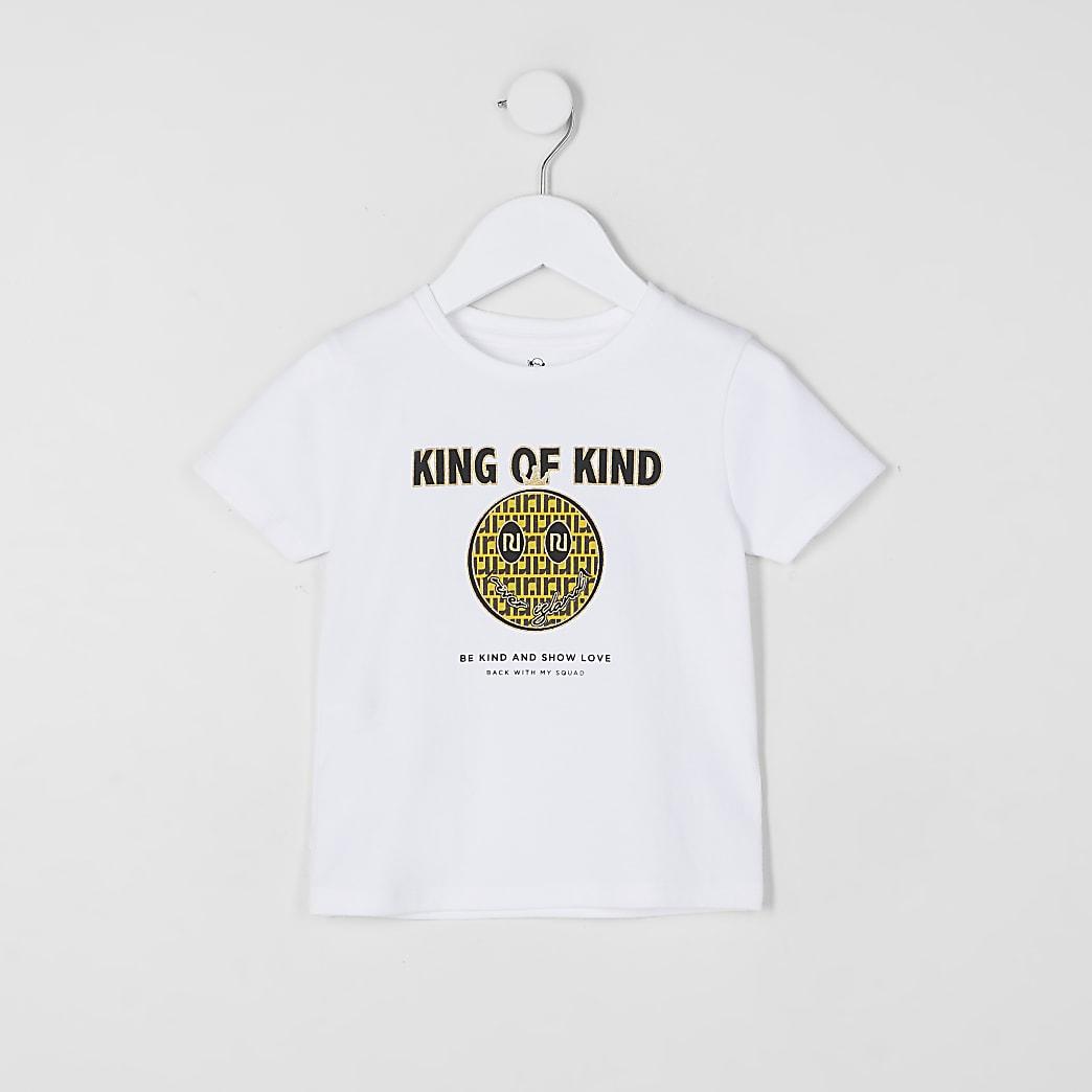 Mini boys white 'King of Kind' t-shirt