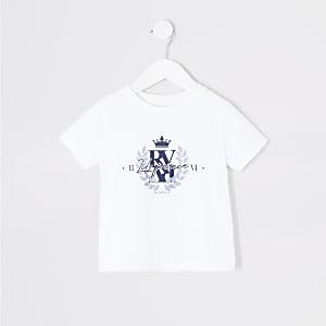 Mini - Wit T-shirt met 'Lil prince'-tekst voor jongens