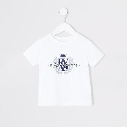 Mini boys white 'Lil prince' T-shirt