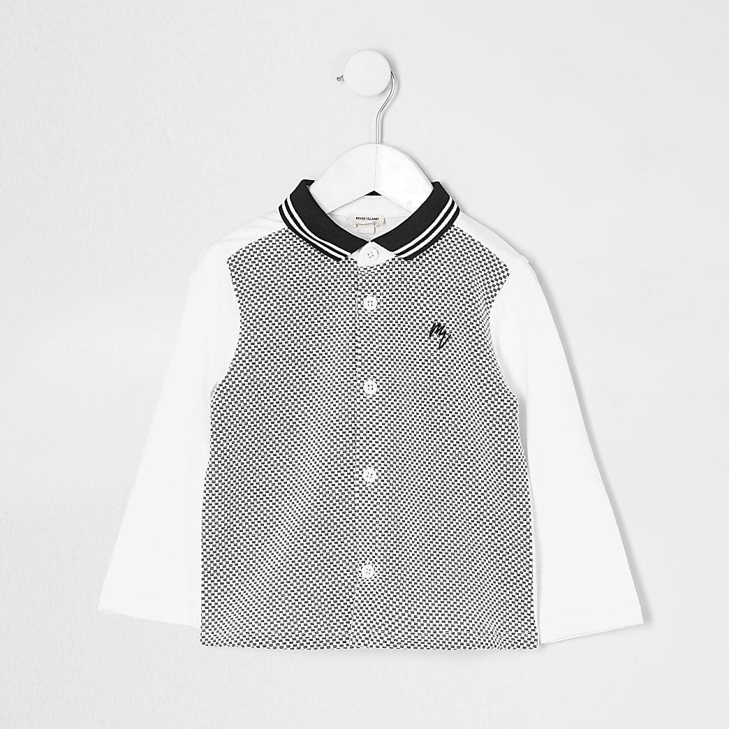 Mini boys white maison shirt