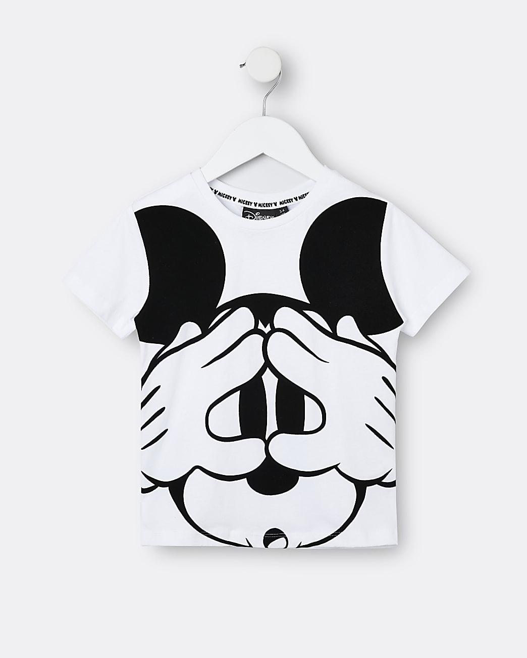 Mini boys white Mickey Mouse t-shirt