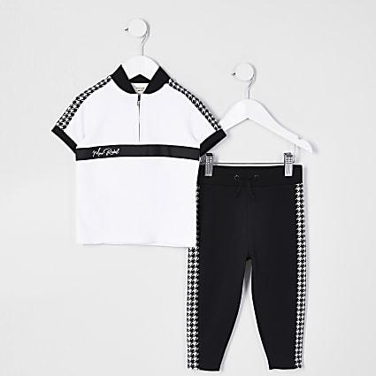 Mini boys white 'Mini rebel' polo outfit