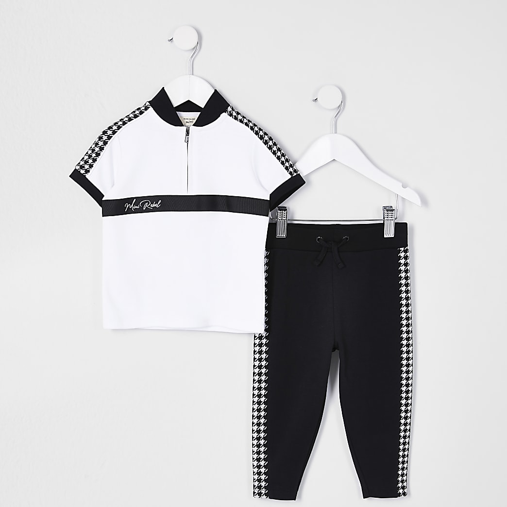 Mini boys white 'Mini rebel' polo outfit