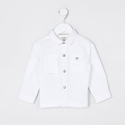 Mini boys white pocket shirt
