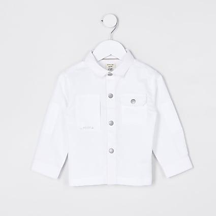 Mini boys white pocket shirt