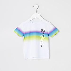 Mini - Prolific - Wit T-shirt met vervagende print voor jongens