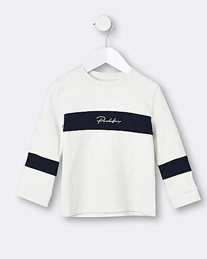 Mini boys white Prolific long sleeve top