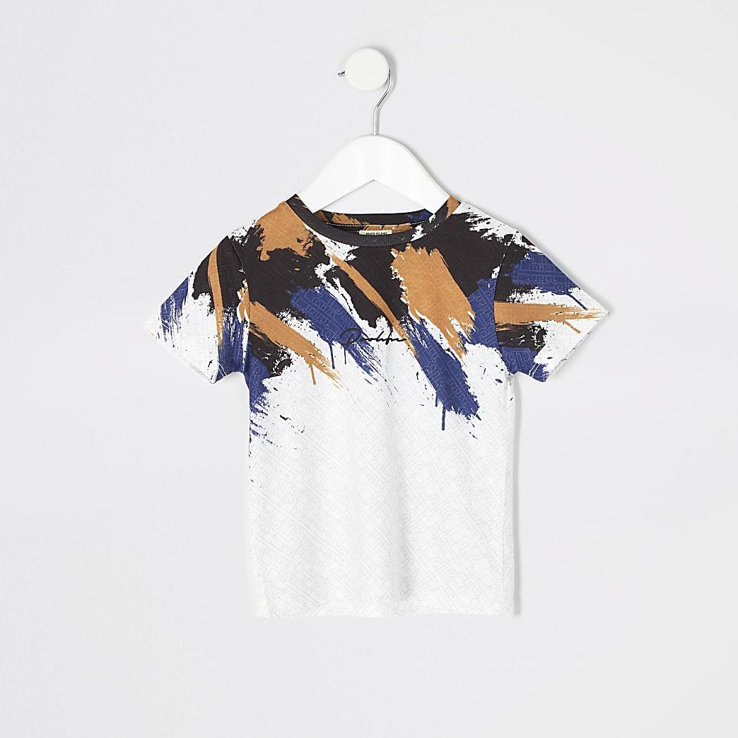 Mini - Prolific - Wit T-shirt met print voor jongens