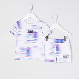 Mini boys white prolific t-shirt set