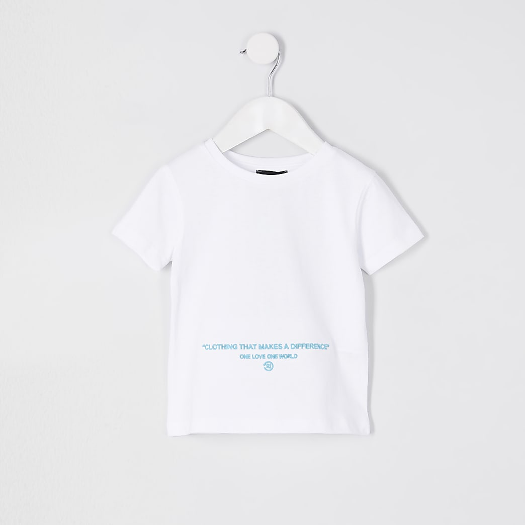 Mini boys white RI one t-shirt