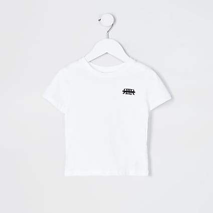 Mini boys white RIR t-shirt