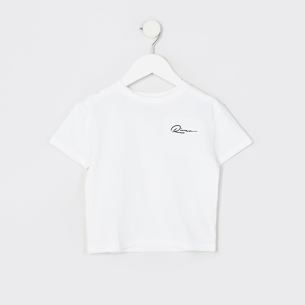 Mini boys white 'River' boxy t-shirt