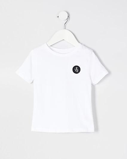 Mini boys white RVR t-shirt