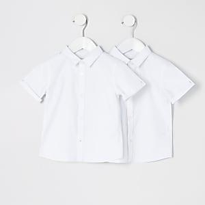 Mini – Kurzärmeliges Hemd in Weiß, 2er-Set