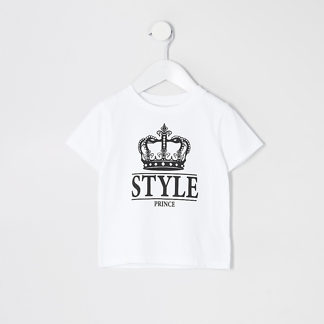 Mini boys White Style Prince Multibuy Tshirt