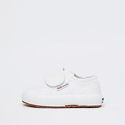 Mini boys white Superga plimsolls