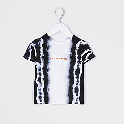 Mini boys white tie dye 'Undefined' t-shirt