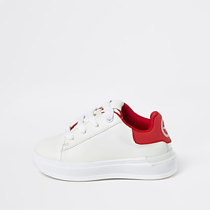 Mini boys white trainers
