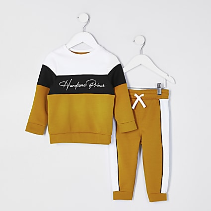 Mini boys yellow 'Handsome prince' outfit