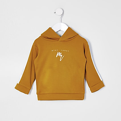 Mini boys yellow maison riviera tape hoodie