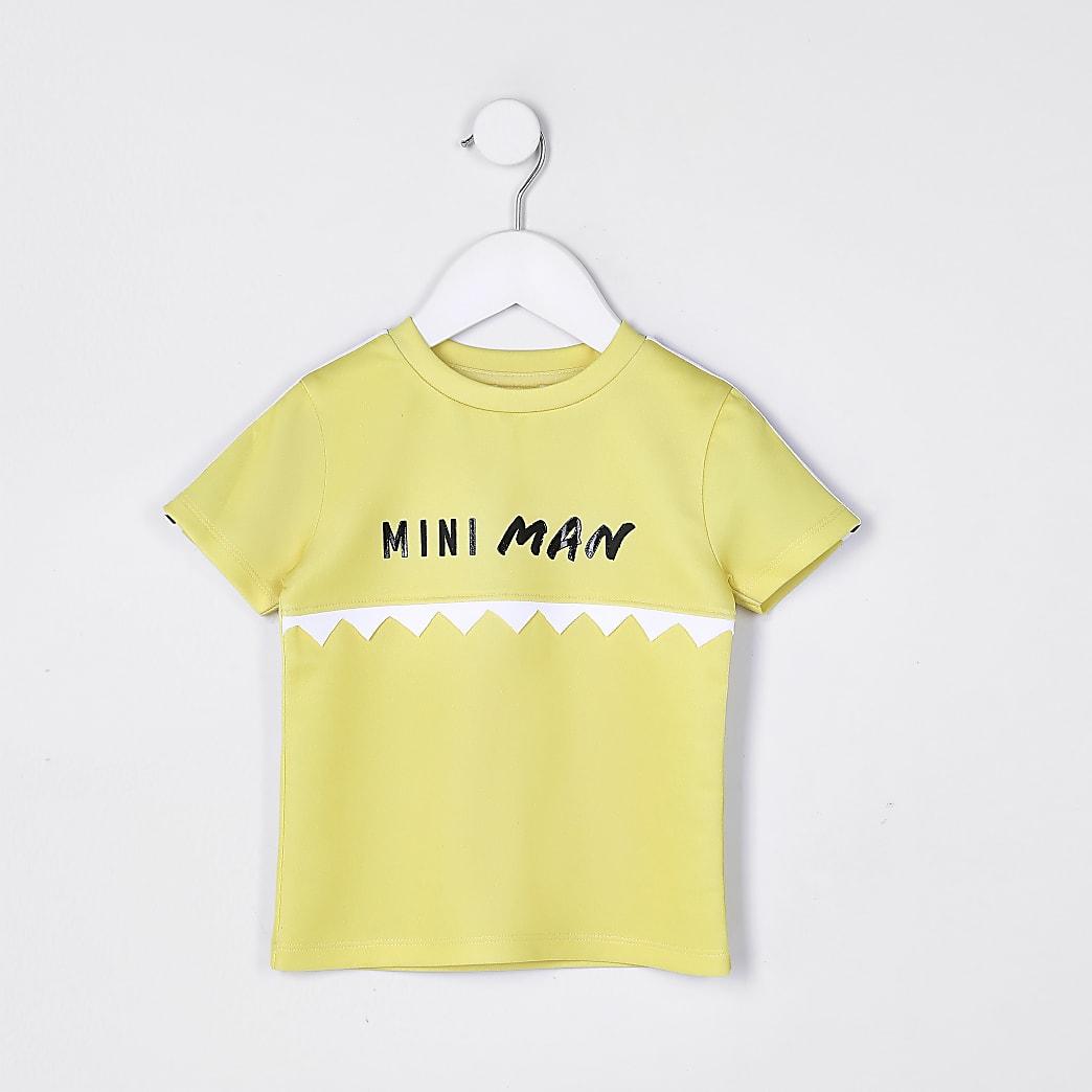 Mini boys yellow 'Mini Man' t-shirt