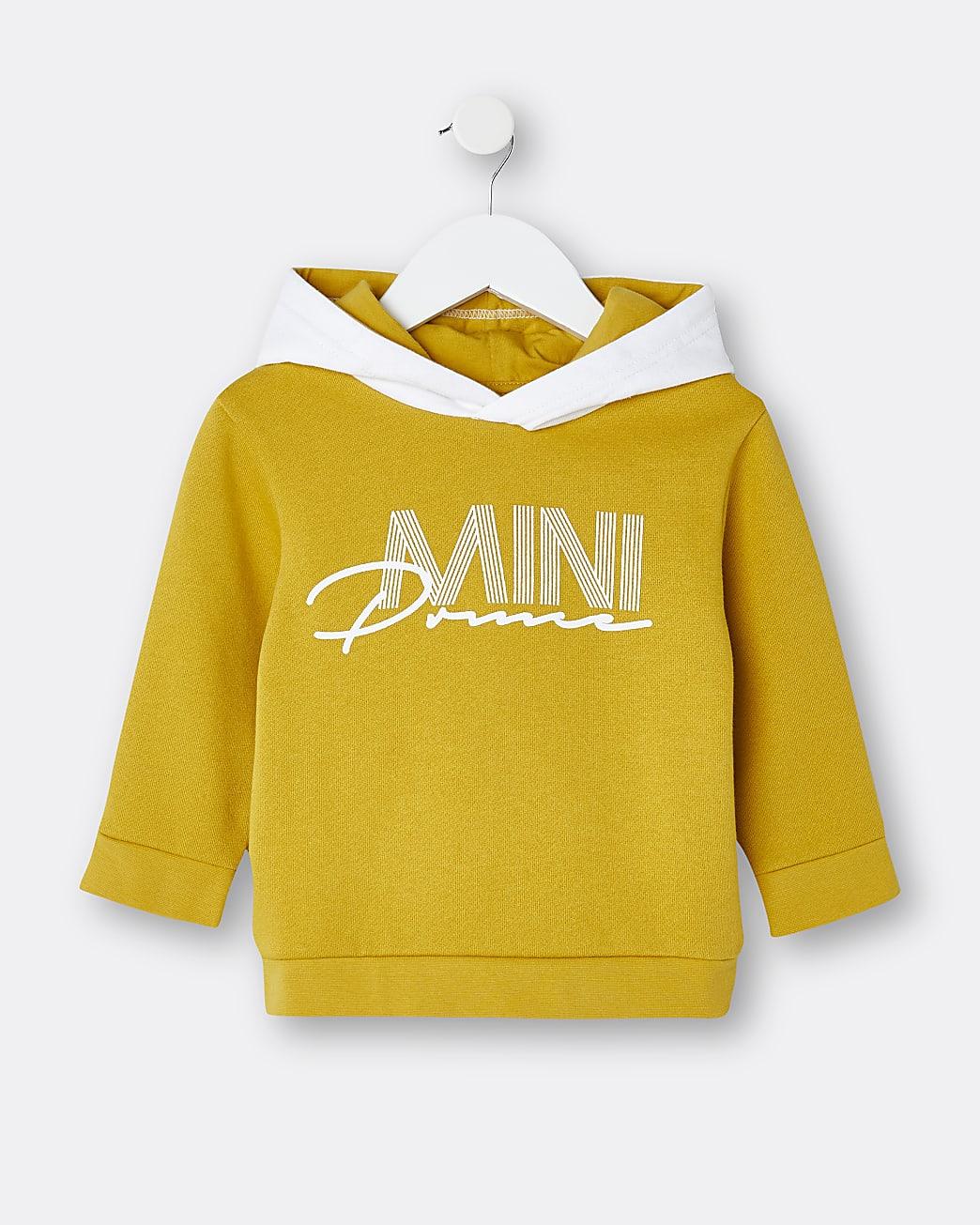 Mini boys yellow 'Mini Price' hoodie