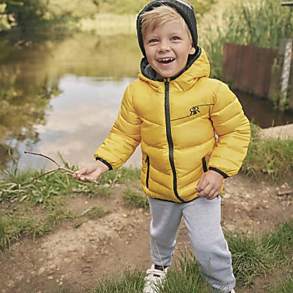 Mini boys yellow padded jacket