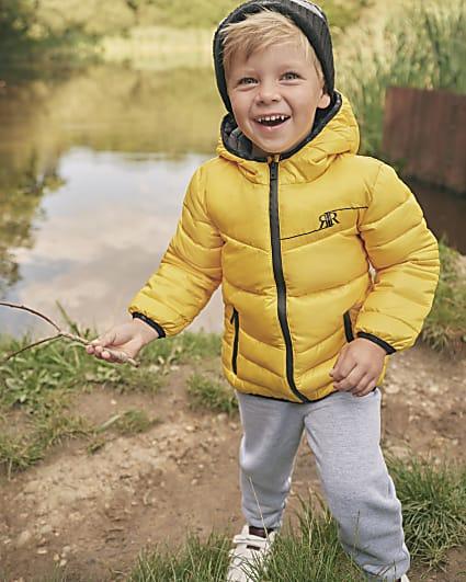 Mini boys yellow padded jacket