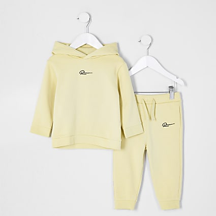 Mini boys yellow River hoodie set