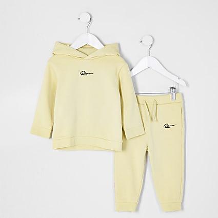 Mini boys yellow River hoodie set