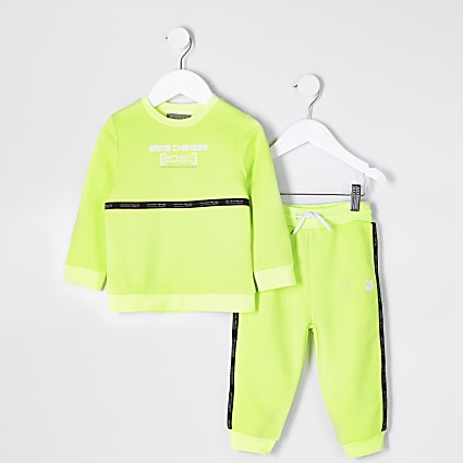 Mini boys yellow taped RI Active tracksuit