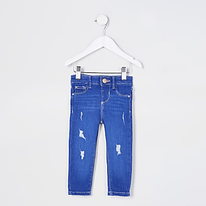 Mini girl blue Molly mid rise jeans