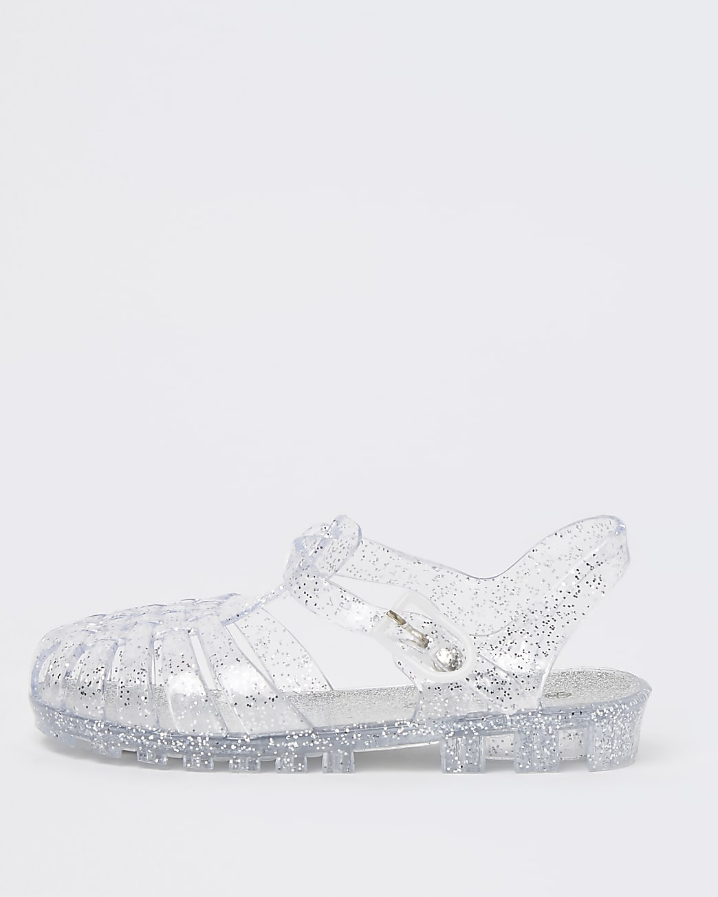 Mini girl silver glitter jelly sandals